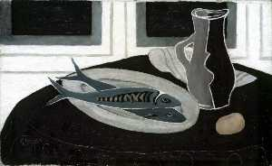 Georges Braque - Bottle and Fish