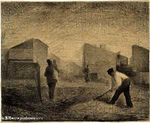 Georges Pierre Seurat - Stone breakers, Le-Raincy