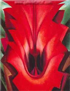 Georgia Totto O-keeffe - Inside Red Canna