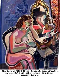 Gino Severini - Odalisque with Mirrors