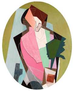Gino Severini - Woman with Green Plant