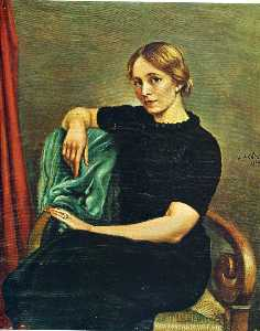 Giorgio De Chirico - Portrait of Isa with black dress