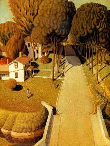 Grant Wood - The Birthplace of Herbert..