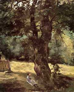 Gustave Caillebotte - Woman Seated Beneath a Tree