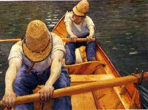 Gustave Caillebotte - Boaters Rowing on the Yer..
