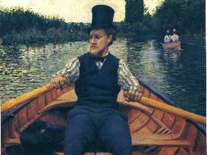 Gustave Caillebotte - Rower in a Top Hat