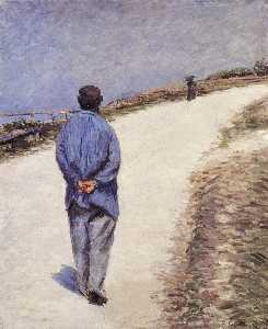 Gustave Caillebotte - Pere Magloire on the Road..