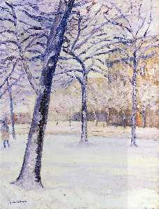 Gustave Caillebotte - Park in the Snow