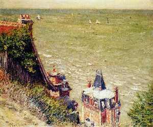 Gustave Caillebotte - The Pink villa at Trouvil..