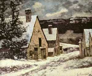 Gustave Courbet - Village Street in Winter
