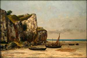 Gustave Courbet - Beach in Normandy