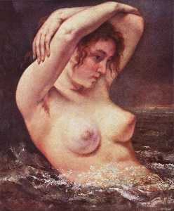 Gustave Courbet - The Woman in the Waves (The Bather)