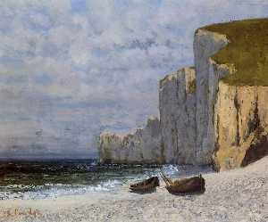 Gustave Courbet - Bay with Cliffs