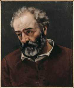 Gustave Courbet - Portrait of Paul Chenavard