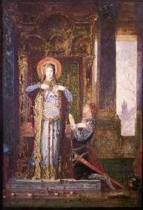Gustave Moreau - St. Elisabeth of Hungary (The Miracle of the Roses)