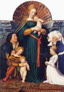 Hans Holbein The Younger - Madonna of the Burgermeis..