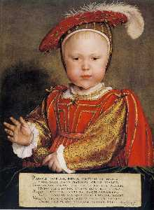 Hans Holbein The Younger - Portrait of Edward VI as a child