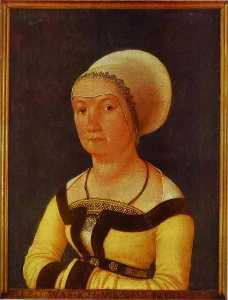 Hans Holbein The Younger - Portrait of 34 year old Woman