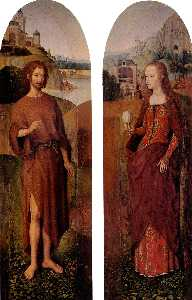Hans Memling - St. John the Baptist and ..
