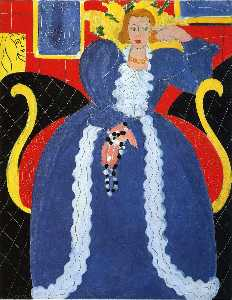 Henri Matisse - Woman in Blue, or The Large Blue Robe and Mimosas