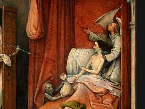 Hieronymus Bosch - Death and the Miser (detail)