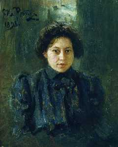 Ilya Yefimovich Repin - Portrait of the artist da..