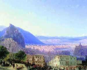 Ivan Aivazovsky - View of Tiflis