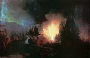 Ivan Aivazovsky - Battle of Chesma