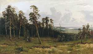 Ivan Ivanovich Shishkin - Fir forest on the river K..