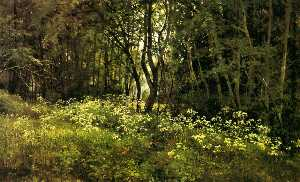 Ivan Ivanovich Shishkin - Flowers on the forest edg..