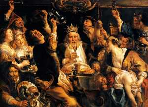 Jacob Jordaens - King Drinks
