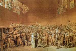 Jacques Louis David - The Tennis Court Oath, 20..