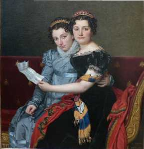Jacques Louis David - The Sisters Zenaide and C..