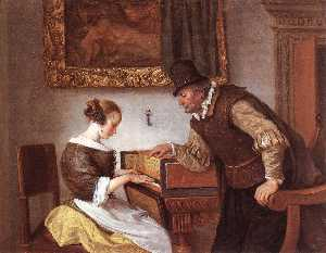 Jan Steen - Harpsichord Lesson