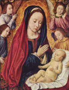 Jean Hey - The Virgin and Child Adored by Angels