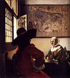 Jan Vermeer - Officer and Laughing Girl