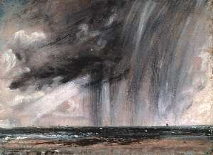 John Constable - Rainstorm over the Sea