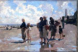 John Singer Sargent - Fishing for Oysters at Cancale