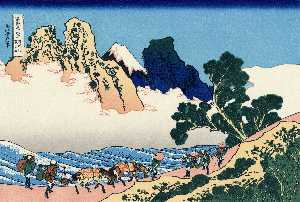 Katsushika Hokusai - The back of the Fuji from..