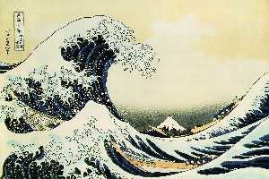 Katsushika Hokusai - The Great Wave off Kanaga..