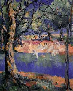 Kazimir Severinovich Malevich - River in Forest