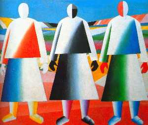 Kazimir Severinovich Malevich - Girls in the Fields
