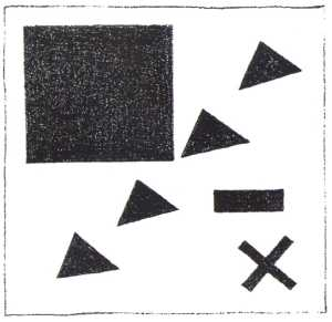 Kazimir Severinovich Malevich - Suprematic group using the triangle