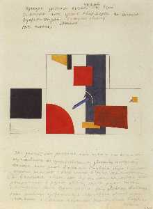 Kazimir Severinovich Malevich - The principle of painting the walls