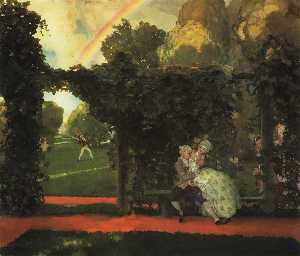 Konstantin Somov - The Laughed Kiss