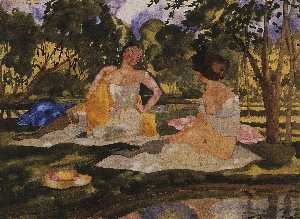 Konstantin Somov - On the Grass