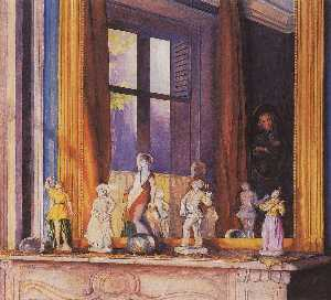 Konstantin Somov - Porcelain Figurines on a ..
