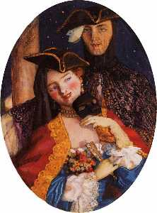 Konstantin Somov - Two Masks (Pair on the Ev..