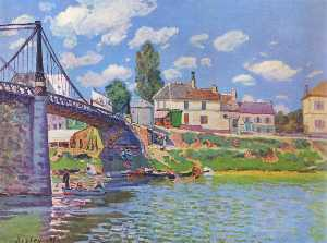 Alfred Sisley - Bridge at Villeneuve la G..