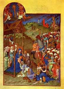 Limbourg Brothers - Scene Adoration of the Magi